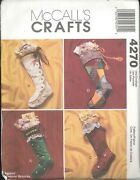 Christmas Stockings Pattern 18 Mccalls 4270 Lined Embroidery Victorian Beretta
