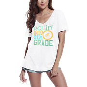 Ultrabasic Womenand039s T-shirt Rollinand039 Into 5th Grade - Short Sleeve Tee Shirt Tops