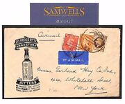 Gb Advert Envelope Angostura Bitters Cocktails 1s/3d Air Mail Usa 1941 Ms3457