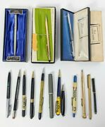 Mixed Vintage Pens Lot Wahl/parker/cross/anson/government Advertising Boxes