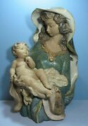 Rare Lladro 12072 Woman And Child Figurine Mother Baby Large Figurine 23