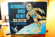 Vintage Rare Rca Victor Astronaut Space Helmet With Box And 3 Record Album