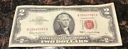 1963 2 Dollar Bill Red Seal Circulated Low Number
