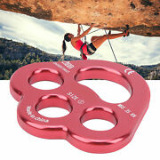 1pcs Camnal Rope 3 Holes Force Rigging Plate Anchor Divider Finger Climbing