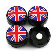 4x British Flag Style Style Floating Wheel Hub Center Cover Suspension For Ze40