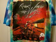 Roger Waters Pink Floyd Concert T Shirt 2012 The Wall Live Tour Tie Dyed 2 Sided