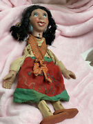 Rare Antique Mexican Marionette Puppet Vintage Woman Creepy Oddity Handmade