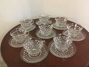 Fostoria American Flared Cup With Saucer - Set-of-eight