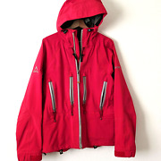 Sessions Summit Series Ski Jacket Mens Small Nylon Gore Tex Snow Coat Red Hooded
