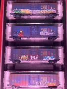 Micro Trains Weathered And Graffitied Golden West Service N Scale 4 Car Runner P