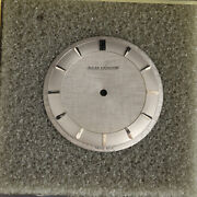 Very Unusual Vintage Jaeger Lecoultre Guilloche Silver Dial 30.46 Item95516