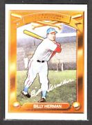 Billy Herman Cubs 1989 Kahnand039s Hillshire Farm Baseball Cooperstown Collection