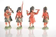 Herald Britain Scots Guards Piper Drummer Soldier Figures 1950s Made In England