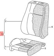 Genuine 1 Set Seat Covers Fabric/ Leatherette Anthracite/grey 2hh898881ef0h