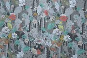 Osborne And Little Curtain Fabric Design Cactus Garden 3 Metres Coral And Mint