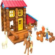 Collectible Lincoln Logs Country Camp Fire Ranch Tin By Lincoln Logs, 124 Pieces