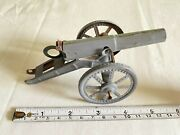 Antique Penny Toy Cannon In Tin Load And Shoot Lineol