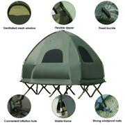 2-person Compact Portable Pop-up Camping Tent Cot W/ Air Mattress And Sleeping Bag