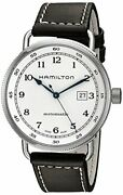 Hamilton Menand039s H77715553 Khaki Navy Stainless Steel Watch With Brown Band