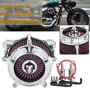 Cnc Cut Air Cleaner Intake Turbine Filter For Harley Dyna Super Glide Road King