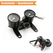 Tachometer Speedometer Odometer Gauge Kit With Indicator Light For Motorcycle