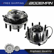 Pair Front Wheel Hub And Bearing For 2005-2010 Ford F-250 F-350 Super Duty 4wd Srw