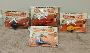 Beautiful Set Of 4 Different Whirl-a-copter Toy Helicopter 1956 Teg Corporation