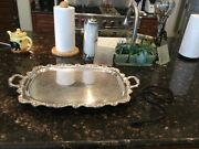 Epca Old English Silverplate Tray By Poole 5050. Heated/handled/footed