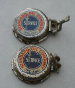 2 Very Old Standard Oil Company Indiana Bottle Cap Crown Recappers