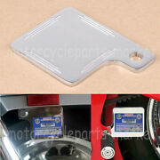 Chrome Motorcycle Inspection Tag Sticker Renewal License Plate For Harley Fl Xl