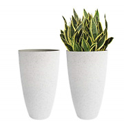 La Jolie Muse Large Outdoor Tall Planters - 20 Inch Indoor Round Big Flower Tree