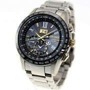Seiko Astron Watch Big-date Titanium Model Sbxb139 Menand039s Made In Japan