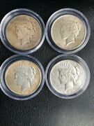 4 - Peace Silver Dollars - 1924, 1925 And -1926
