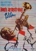Satchmo The Great German A1 Movie Poster Louis Armstrong Jazz 1957 Very Rare