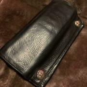 Chrome Hearts Authentic Greasy Long Wallet Long Wallet Genuine