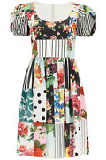 New Dolce And Gabbana Patchwork Dress F6n0dt Gdx82 Variante Abbinata Authentic Nwt