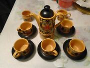 Sadler Rooster Vintage 1960and039s 16 Piece Coffee Set Grouping Made In England