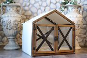 Indoor Dog House Wood Dog Crate Dog Bed Cat Bed Pet Sleeping Bed Dog Kennel