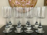 Baccarat Crystal Jose Water Goblet Glasses Set Of 8 Designed By Boris Tabacoff