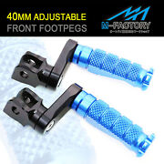 Rider Foot Pegs 40mm Adjustable R-fight For Yamaha Yzf R1 00-14 Yzf R6 03-17