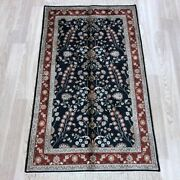 Yilong 2.5and039x4and039 Handknotted Silk Carpet Home Kid Friendly Small Area Rug 090b