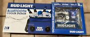Bud Light 24-can Insulated Cooler Bag Bluetooth Stereo Speakers Cards Opener Lot