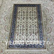 Yilong 2.5and039x4and039 Handknotted Silk Carpet Floor Decor Oriental Area Rug H172b