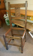 Craftsman Guild Mission Oak Mortise And Tenon Side Chair 1910 - 1915