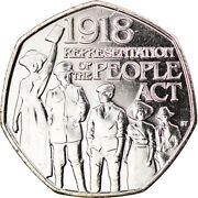 [917790] Coin, Gibraltar, 50 Pence, 2018, People Act, Ms63, Copper-nickel
