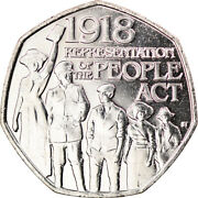[917788] Coin, Gibraltar, 50 Pence, 2018, People Act, Ms63, Copper-nickel
