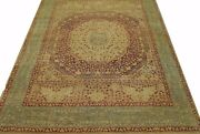 Hand Knotted Antique Reproduction Abstract Medallion Design Area Rug