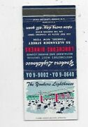 Matchbook Cover The Yonkers Lighthouse Restaurant Lounge Yonkers Ny 7707