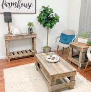 Rustic Coffee Table Farmhouse Reclaimed Wood Living Room Natural Distressed New