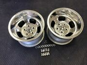 Vintage 15x10 Pair Polished Us Indy Style Mags Nice 5 On 5 C-10 Chevy Truck Van